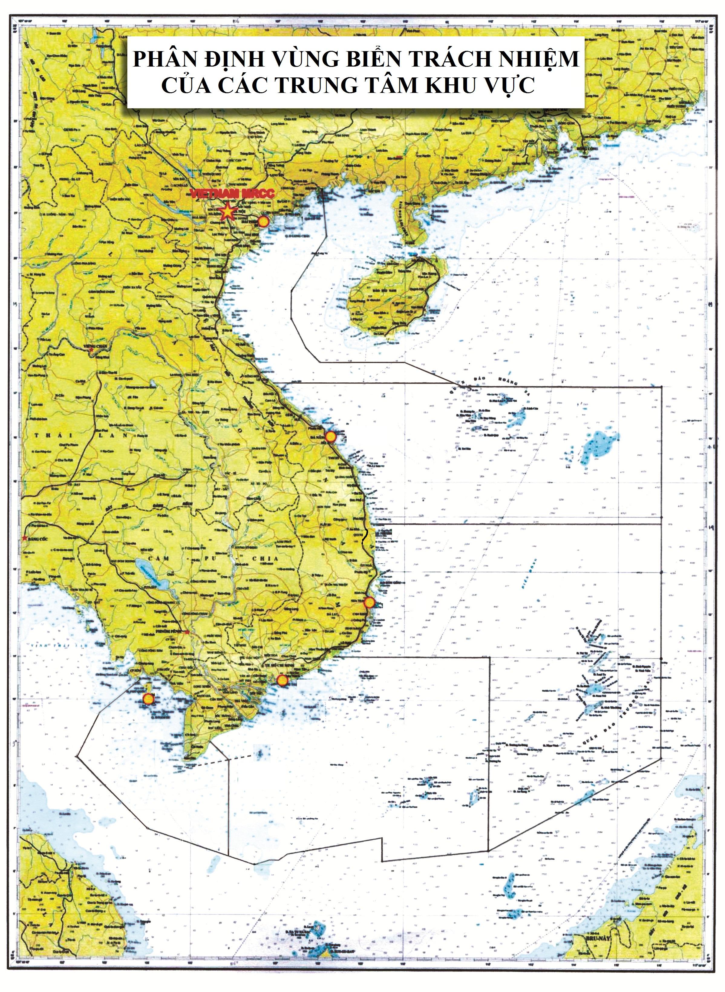 Bản đồ phân định vùng biển trách nhiệm